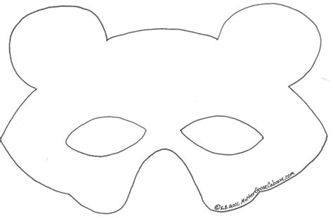 goose mask template goose mask coloring coloring pages