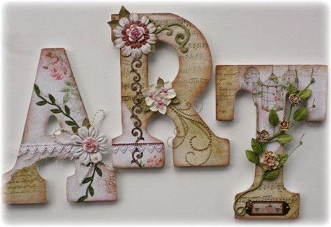 Decoupage Letter Ideas - decoupage letters cardboard and wood letters and more