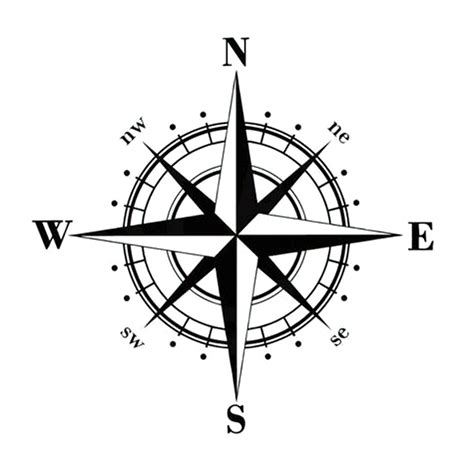 15cm 15cm art design vinyl nswe compass car stickers