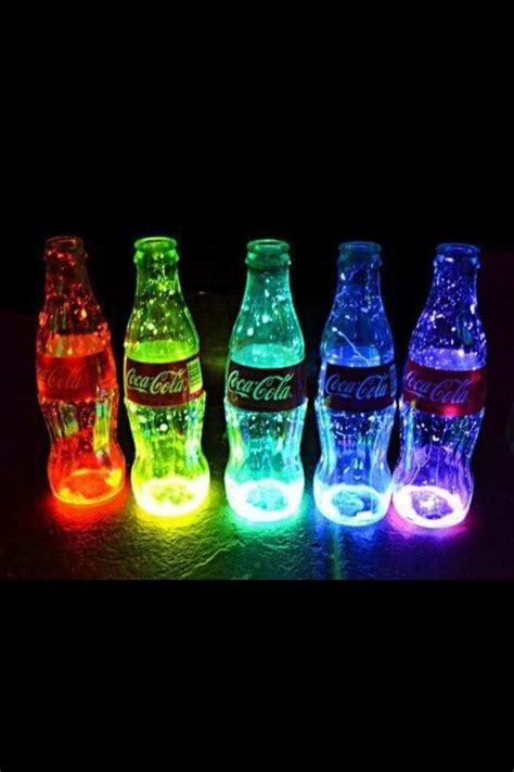 coca cola cool lights neon image 708837 on favim com