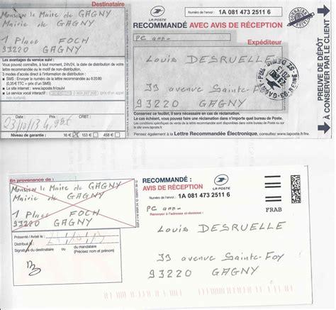 Modèles De Lettre Recommandée Lettre Recommand 233 E Avec Accus 233 De R 233 Ception Des D 233 Marches