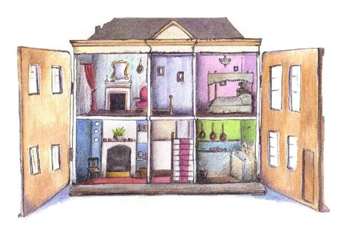 old fashioned dolls house down a dusty lane by cathy holtom old fashioned toy