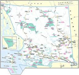 map bc canada columbia maps
