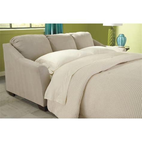 ashley sofa sleeper ashley hannin fabric queen size sleeper sofa in stone