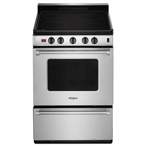 24 inch electric cooktop whirlpool smooth surface 2 96 cu ft freestanding electric
