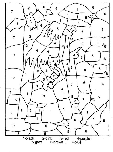 halloween coloring pages worksheets halloween color by number hallow coloring pages