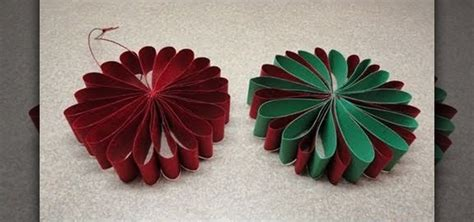 Make Paper Ornaments - how to craft a simple folded paper flower ornament for