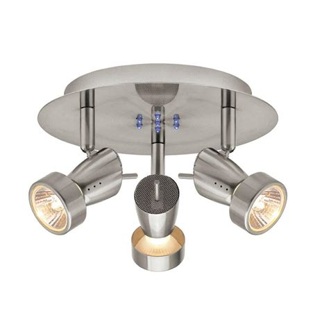 Directional Ceiling Light Fixtures by Hton Bay 3 Light Brushed Nickel Semi Flush Mount