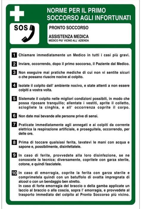 cartello cassetta pronto soccorso cartello norme per il primo soccorso agli infortunati firest