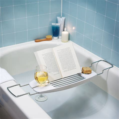 bathtub accessories umbra oasis bath tub caddy in tub caddies and accessories