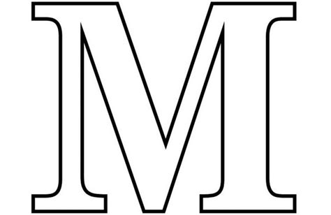 Download Coloring Pages Letter M Coloring Pages Letter M Coloring Letter M