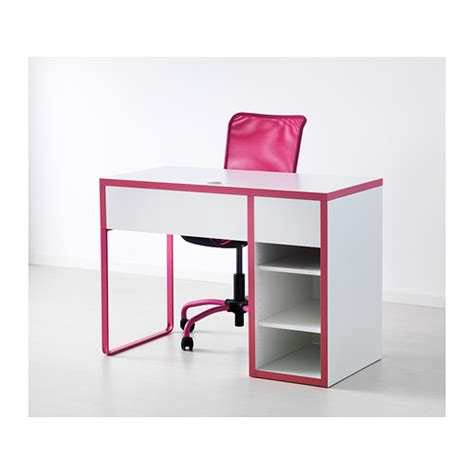 Micke Desk White Pink 105x50 Cm Ikea Micke Desk White