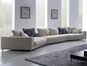 Large Modern Sectional Sofas Contemporary White Oversized Fabric Sectional Sofa W Pillows Modern Design Ebay