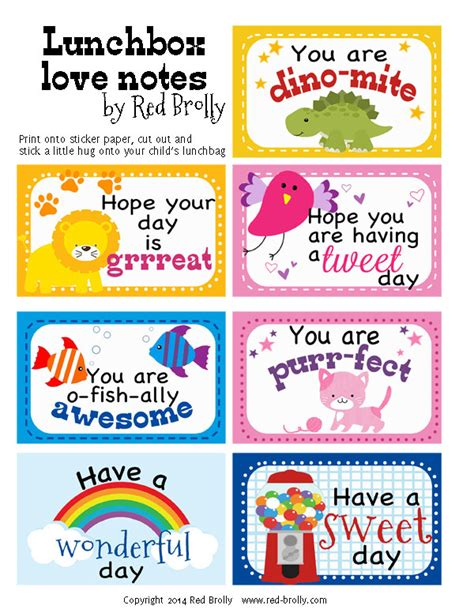 printable lunchbox notes here s a little lunchtime love for you little one print