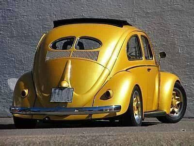 gold volkswagen beetle yellow gold vw beetle air cooled dubs pinterest vw
