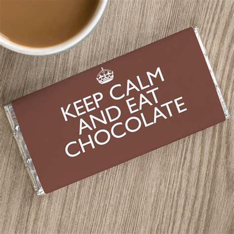 personalised chocolate bar keep calm personalised