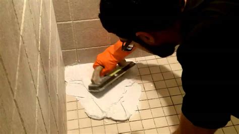 How To Re Caulk Shower by How To Use Shower Epoxy Grout By Home Repair Tutor
