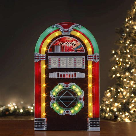 Retro Kitchen Lighting Ideas mr christmas 28 in rock o rama christmas jukebox 60411