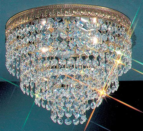 small crystal flush mount lighting crystal baskets collection 10 dia small brass crystal