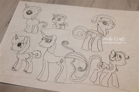 how to create my own doodle doodlecraft design and draw your own my pony
