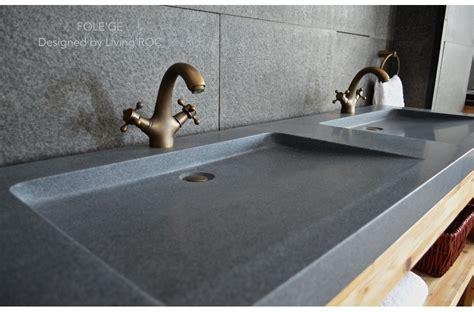large bathroom sink 63 quot trough sink gray granite double bathroom sinks stone folege