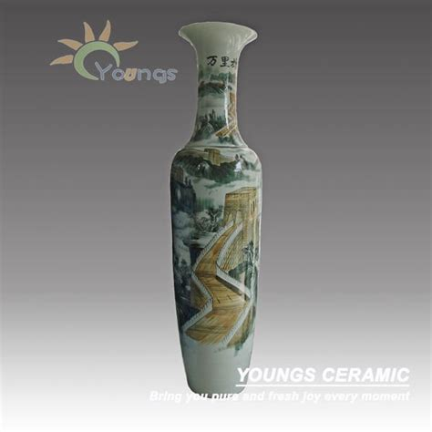 Large Floor Vases Cheap by Large Ceramic Floor Vases Wholesale With Painted The
