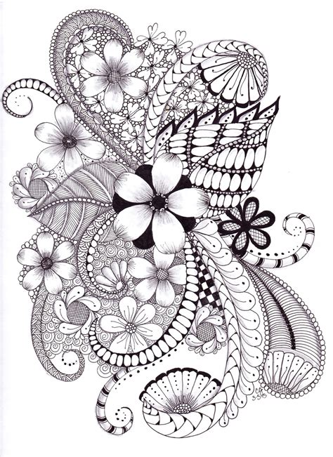 zendoodle coloring pages easy zentangle doodle zentangle coloring pages pinterest