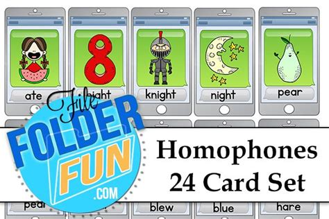 printable homophone games free printable homophones game and card set
