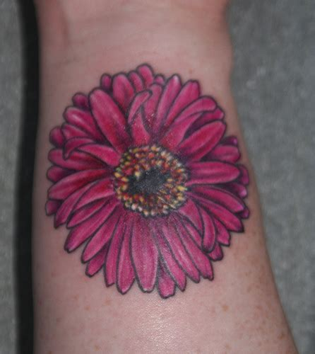 gerbera flower tattoo designs gerbera flower