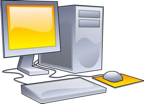 desk for desktop computer file desktop computer clipart yellow theme svg