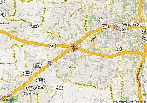 map of garden inn winston salem hanes mall winston