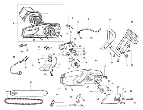 chainsaw diagram poulan pp300e electric saw 300e electric saw parts