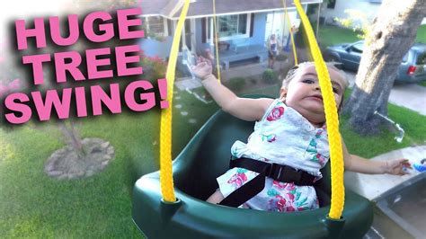 swing years huge tree swing with gopro and children 3 years later