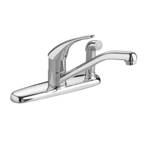 American Standard Cadet Kitchen Faucet American Standard Cadet Single Handle Side Sprayer Kitchen Faucet In Chrome Discontinued 8413f
