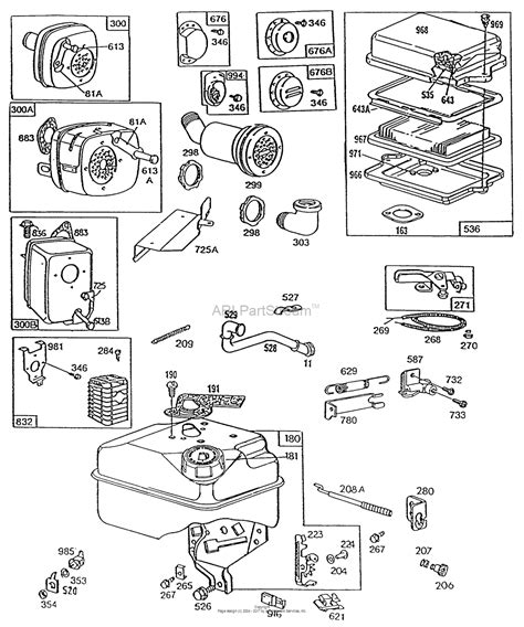 briggs and stratton governor linkage diagrams briggs and stratton 130212 3245 01 parts diagram for