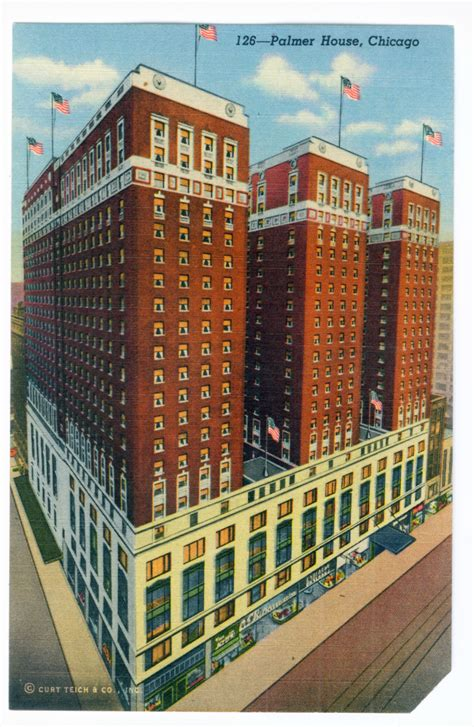 Palmer House Hotel Chicago by Chicago Postcard Museum Early 20th Century Wing Chicago
