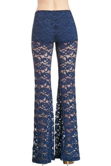 Code Shakira Legging Import Navy Blue navy blue flare lace fashion pink