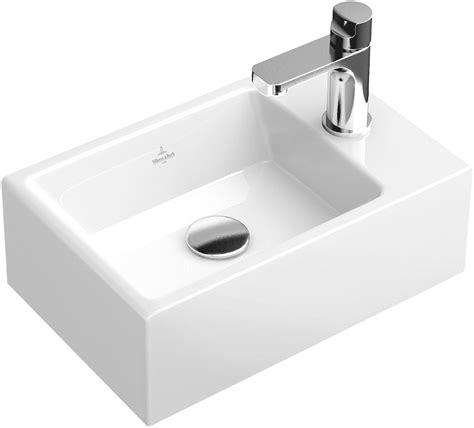 waschbecken klein eckig memento handwaschbecken eckig 53334g villeroy boch