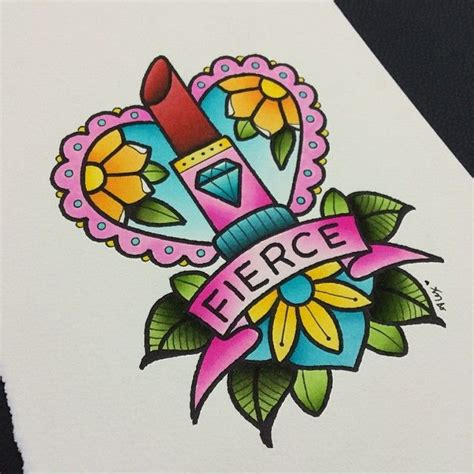 flash tattoo zararli mi alexstrangler quick little painting fierce at the