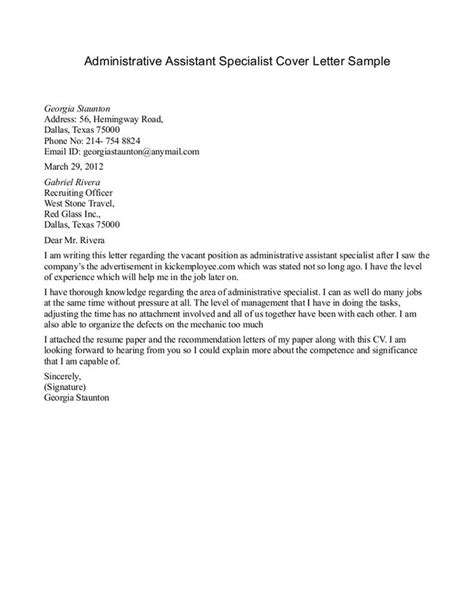 cover letter exles administrative assistant 8 best admin assist cover letter images on
