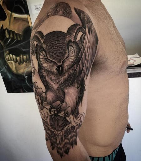 horned owl tattoo jeff norton tattoos tattoos page 1