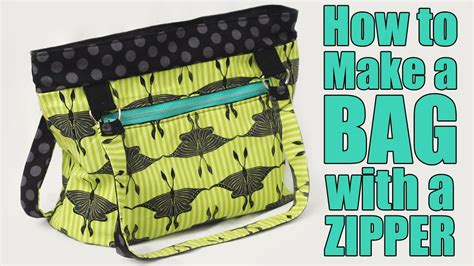 youtube zipper tutorial how to make a bag or purse with a zipper sewing tutorial