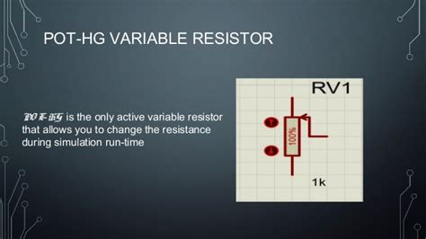 variable resistor en proteus lcd display with proteus