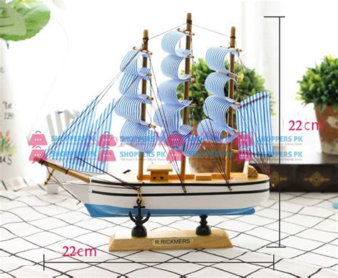 pirate decor for home wooden sailboat pirate ship home decor 22 cm large