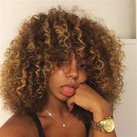 pictures of highlights in dark afro best 25 highlights curly hair ideas on pinterest curly