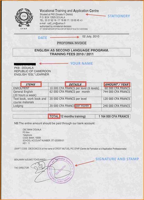 school invoice template 8 school fee bill format simple bill