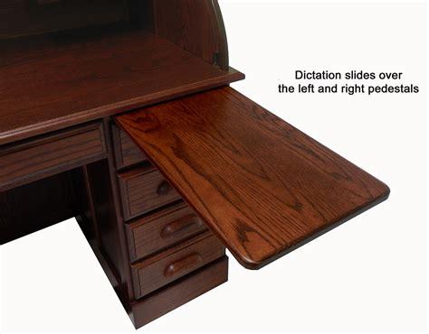 solid oak roll top desk 54 1 2 quot w deluxe solid oak roll top desk w laptop clearance