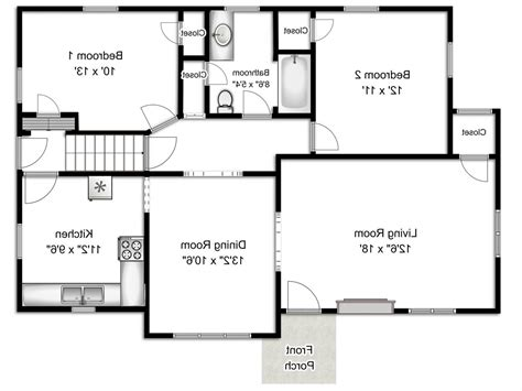 bedroom floor plan with measurements black white floor plans with basic room dimensions