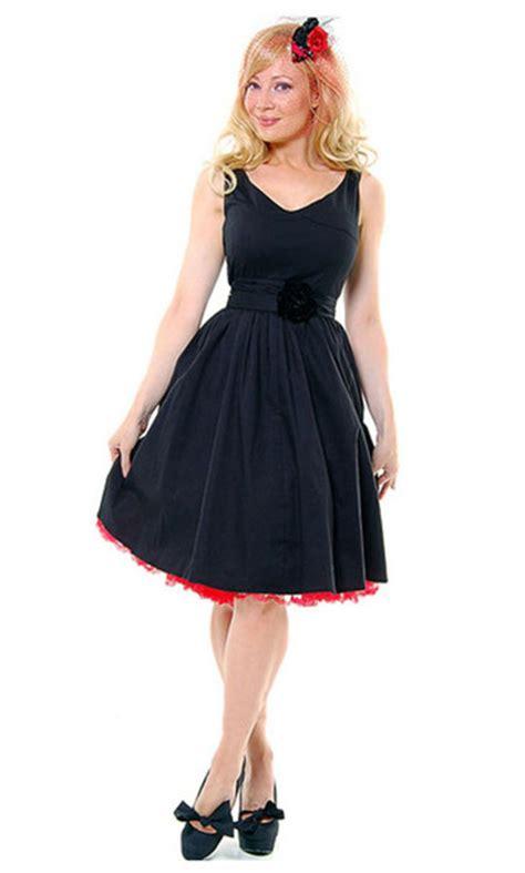 black 1950s swing dress dress 1950s clothes cute dress black dress rockabilly