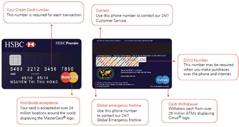 Where Is The Card Number On A Mastercard Gift Card - hsbc premier mastercard user guide credit cards hsbc vietnam